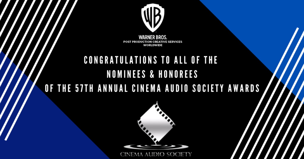 Congratulations to the Nominees of The 57th Annual CAS Awards