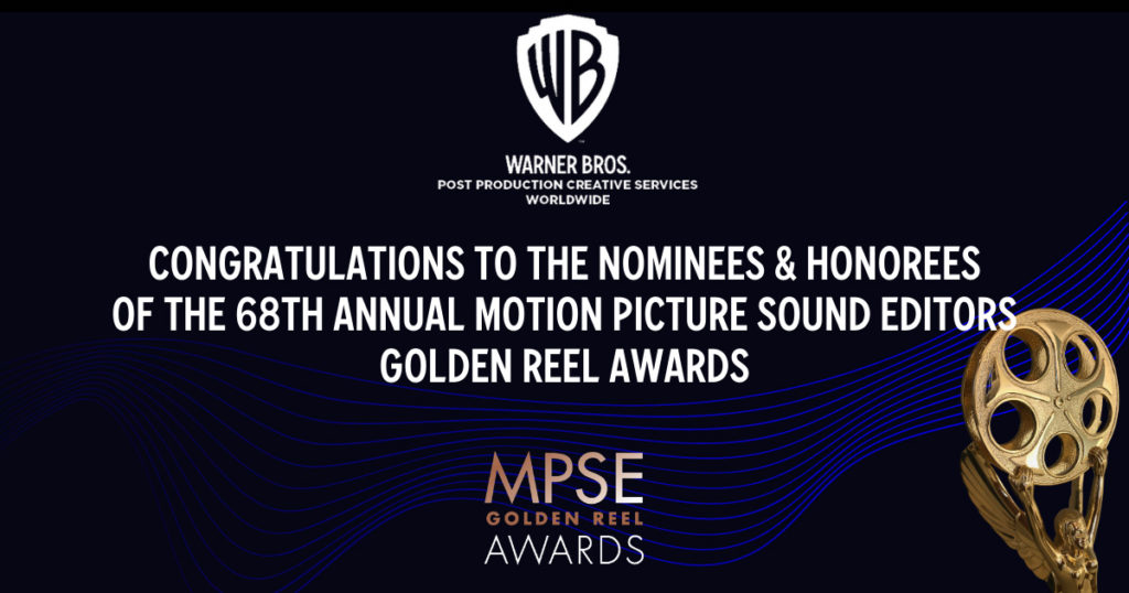 Congratulations to the Nominees of The 68th Annual MPSE Golden Reel Awards