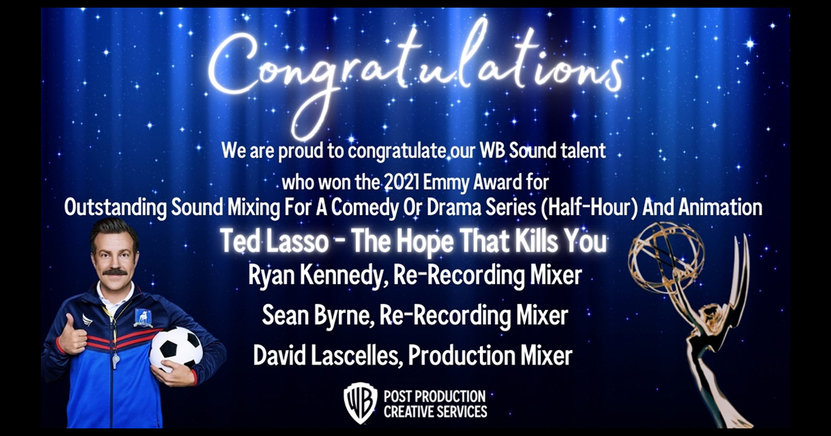 Congratulations to our 2021 Emmy Award Winners