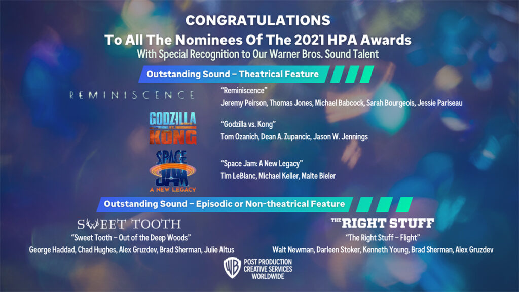 Congratulations to Our 2021 HPA Award Nominees